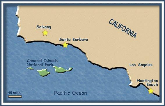 Southern California 2003 Huntington Beach Solvang Santa Barbara